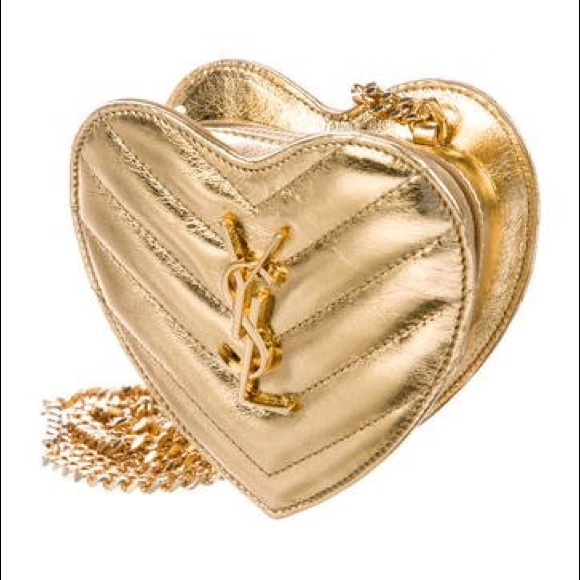 d6fa09b6cbae YSL heart shaped bag. M 5b88498f2e1478a17996403b